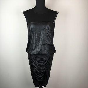 BCBG Maxazria black shimmery velvet dress